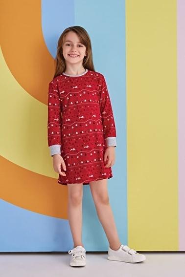 Roly Poly Kız Çocuk Gecelik Kırmızı